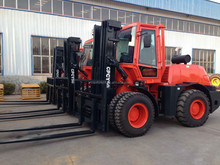 5T Rough Terrain Forklift Trucks , side shift, cabin, heater fan