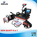 Six-in-one multi-function heat press machine Heat transfer phone shell color changing cup T - shirt hot stamping machine