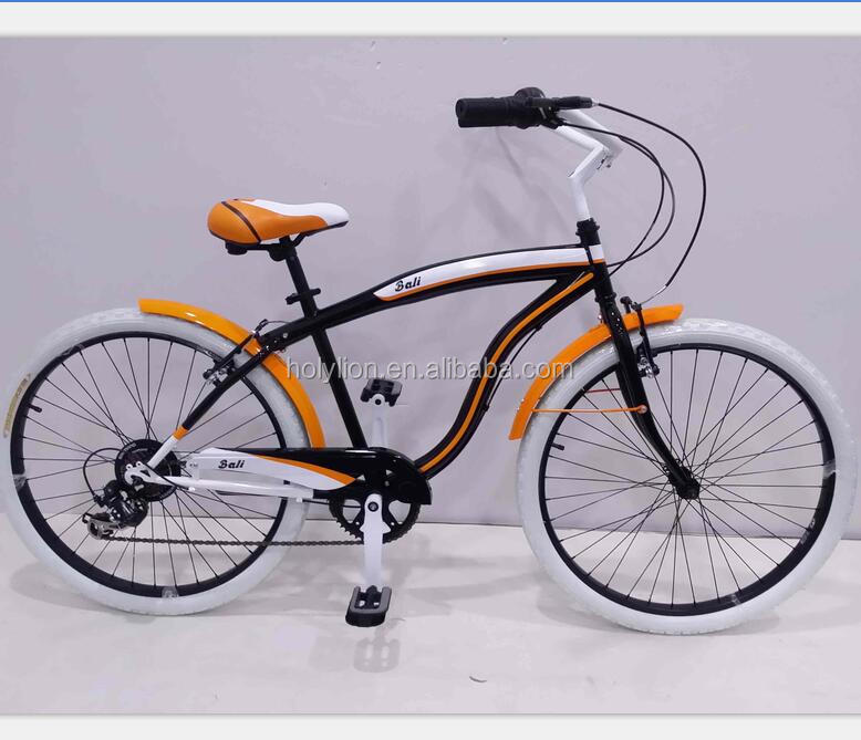 Factory supply new style 26 Inch beach cruiser bike/bicycle with 7 speed