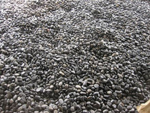 polished black paving pebble