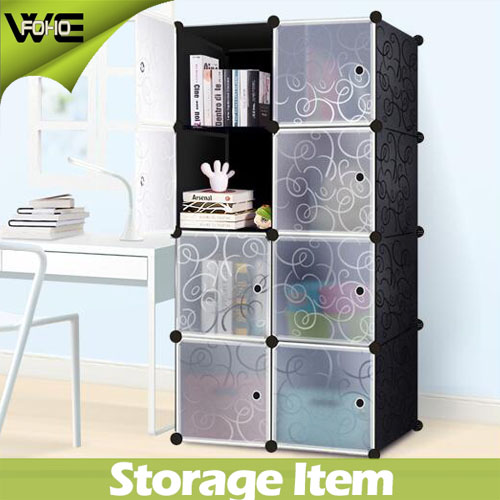 AL0030-8 2017 8 cubes assemble folding mobile plastic wardrobe closet storage cabinet