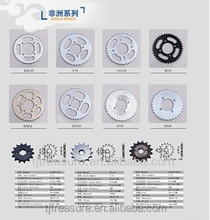 2014 best sell Africa series motorcycle spare parts sprocket and chains