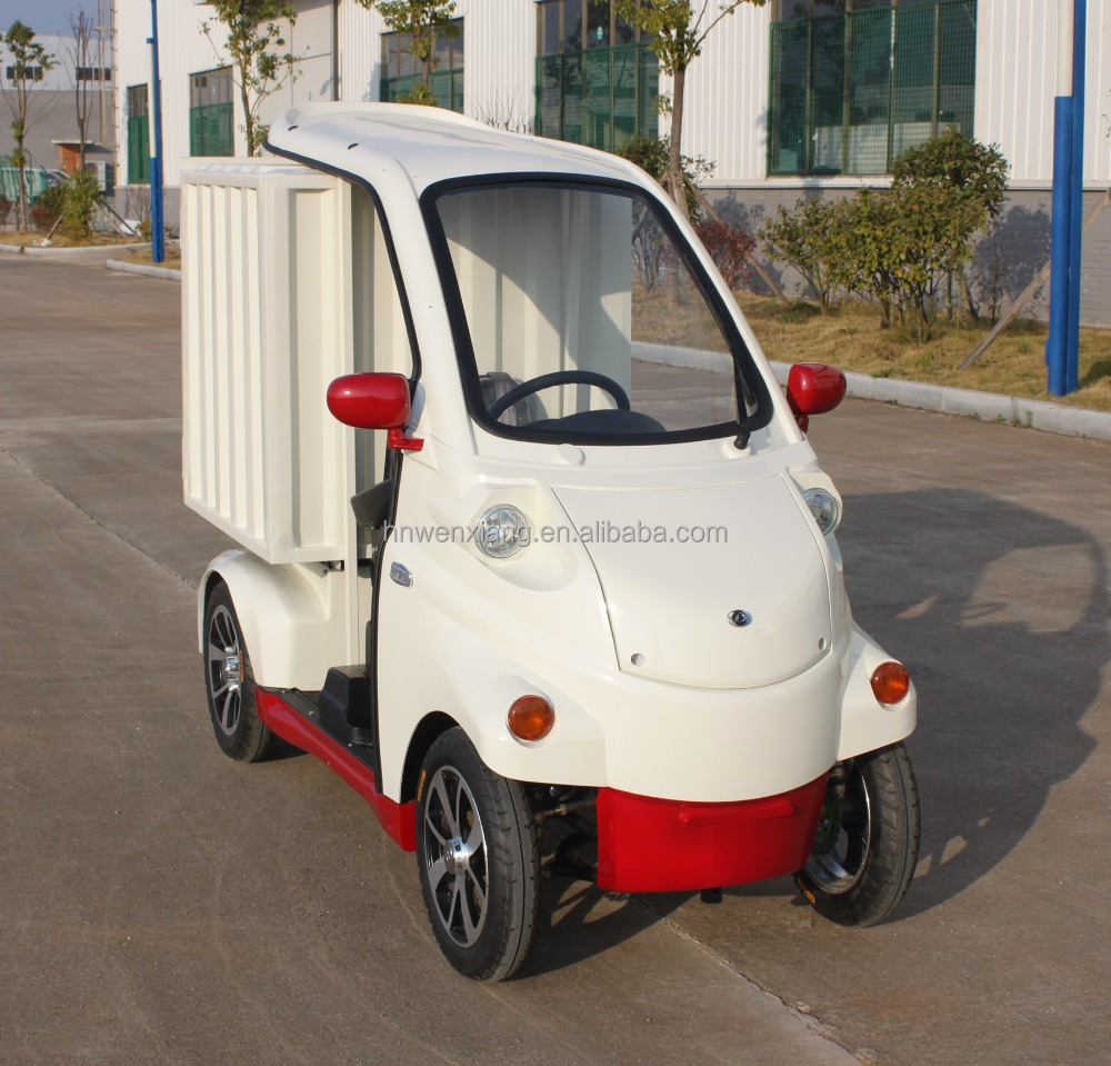 1 Seat cargo van electric car without driving licence