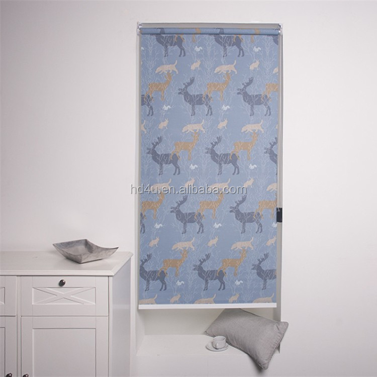 Wholesale customized printed roller blind design roller shade fauna