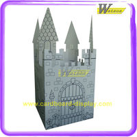 New Design Hot Selling House Castle China Glaze Maybelline Corrugated Paper Toys Display