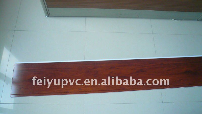 wood grain 25cmx8mm pvc laminate wall panel