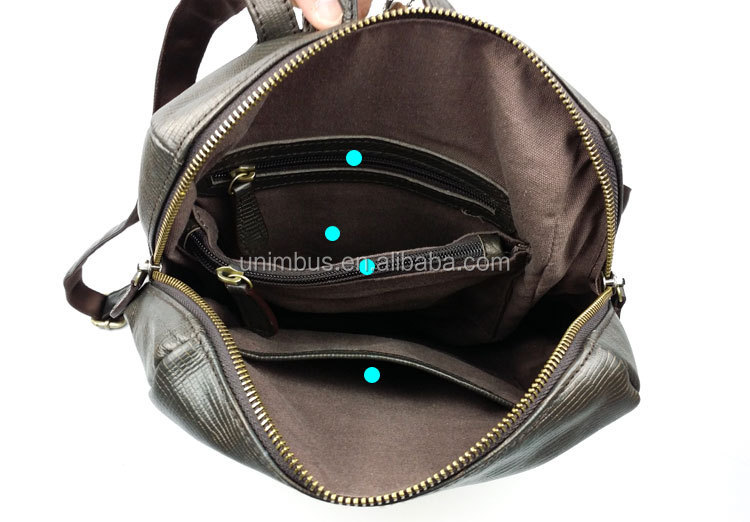 Top grade new leather backpack for women fashion school backpack custom