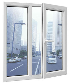 Aluminium window double leaf double swing window