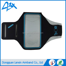High quality soft lycra armband cellphone lightweight, for samsung galaxy s4 case and moisture blue color