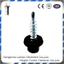 Hex head self drilling screw with rubber washer