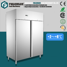 1056L stainless steel 2 door side by side commercial food refrigerator