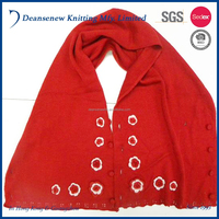 2016 European Fashion Customize Cute 100% Acrylic Flower Pattern Fall Winter Warm Child Kids Boy Girl Red Crochet Knitted Poncho