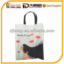 2014 New wholesale reusable shopping bags non woven fabric carry bag
