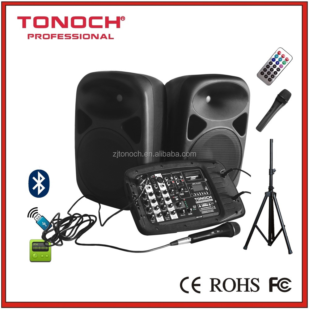 TONOCH 10 inch combo speaker (one mixer with two passive speaker)