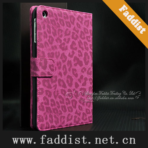 wallet style case for ipad mini leopard pattern