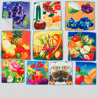 china factory wholesale cheap microfiber square printed towel for india market