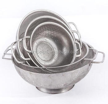 Stainless Steel Mesh Colander ,3.0QT ,5.0QT Stainless steel mesh strainer