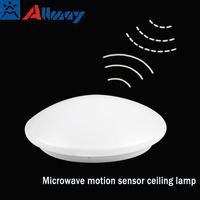 4w 7w 12w 18w microwave led motion sensor ceiling light with emergency function