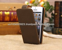 Up and Down Open Leather Case Cover For Iphone 5c 4colors