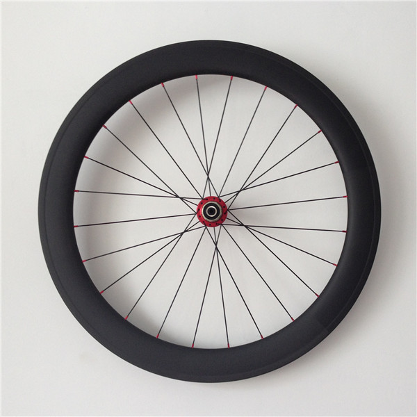 700c 60mm depth 23mm width tubular carbon road bike wheel set racing bicycle wheels
