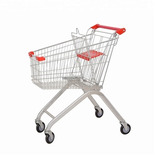 European style wire supermarket shopping trolley&shopping cart