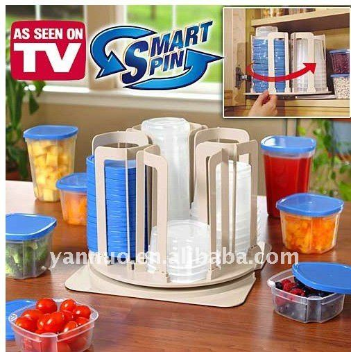 Smart Spin 49 Pcs plastic Storage Container Set for Food preservation