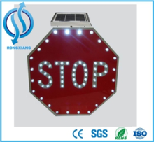 High Brightness Solar Traffic Reflective LED Stop Warning Signs