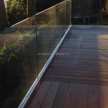 outdoor U base shoe frameless glass deck railing factory direct buy