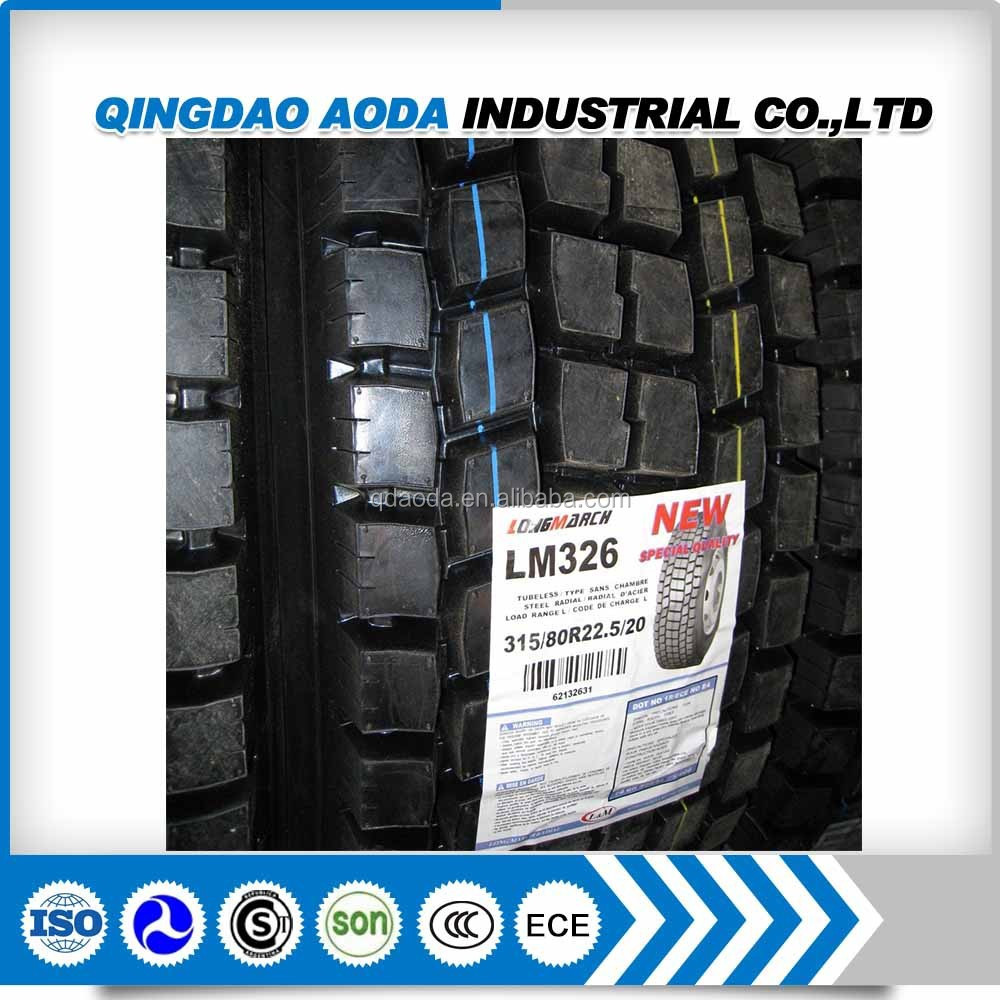 Best chinese brand radial off road tire 22.5 truck tire