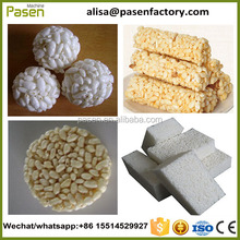 Ball/bar/round shape puffed rice cake maker with high efficience