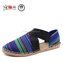 2016 casual Striped shoes spring printing canvas shoe new fashion lazy shoe for women
