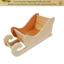 Custom wooden Country Love Crafts Sleigh Wooden Craft Blank