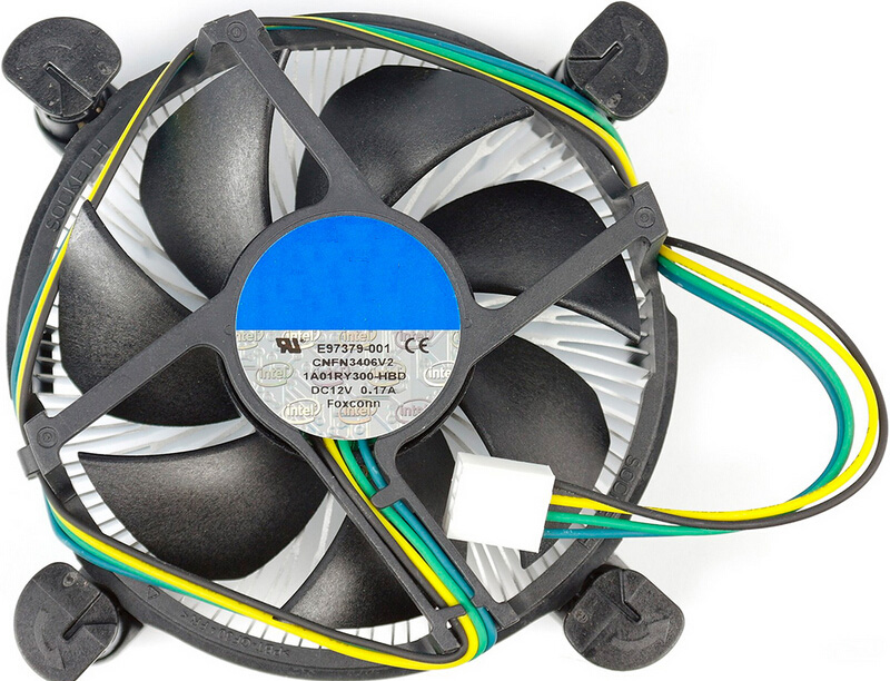 New Genuine CPU Cooler HeatSink Fan Support Socket 1155 1156 Processor up to i7 4 Pin Connector E97379-001Cooling Fan For Intel