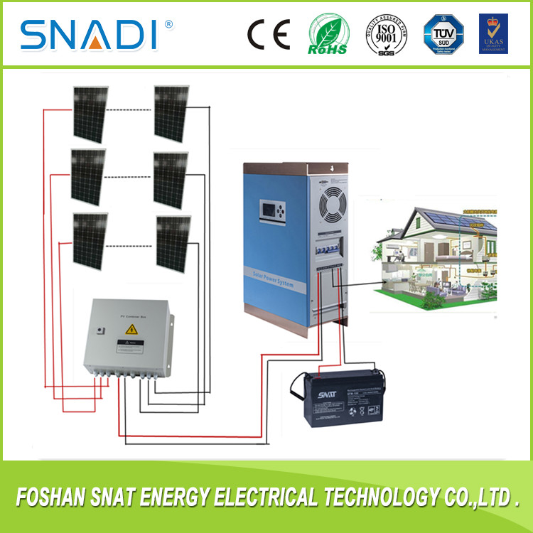 3kw solar power panel system home for lighting system