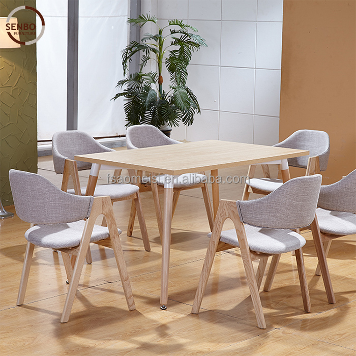 restaurant dining tables and chairs / wooden dining table and chairs / heavy-duty dining table and chairs