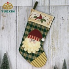 High Quality 16 Inch Holiday Present Sock Bag Christmas Santa Stocking