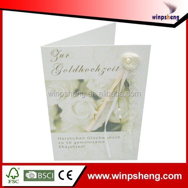 Luxurious Wedding Invitation Card/Wedding Souvenir Sample