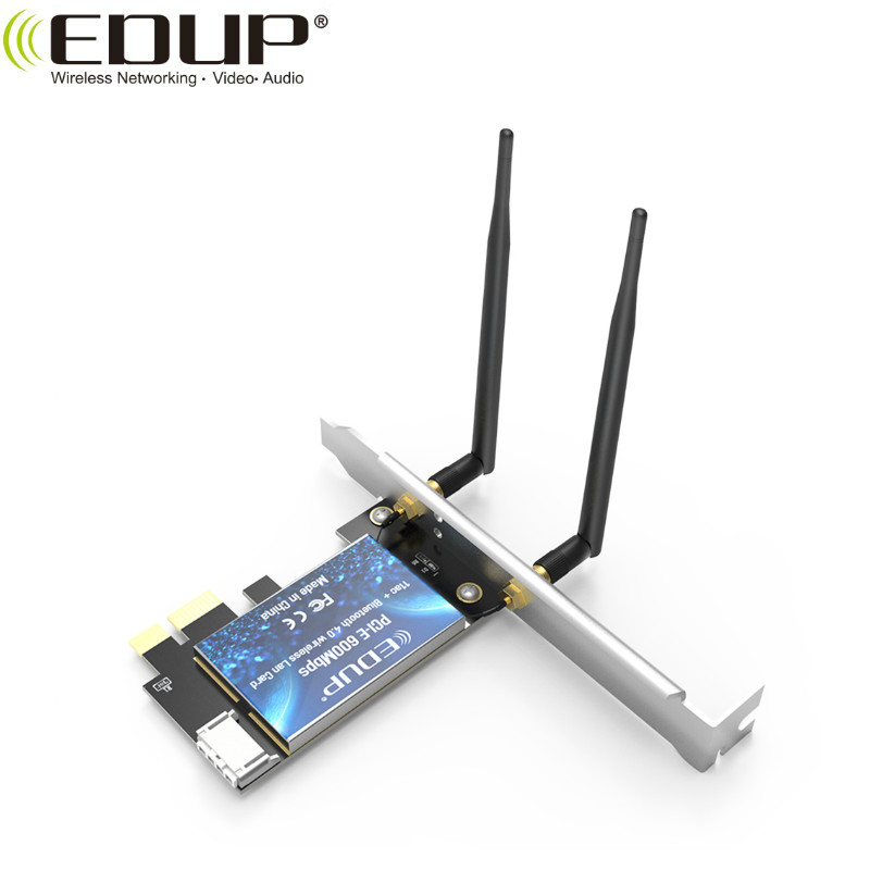 EDUP New Arrival 600Mbps Dual Band WiFi Blue-tooth 4.0 PCI-E Adapter with RTL8821AE Chipset
