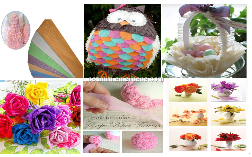 Victor Crafts Hot double side crepe paper in roll wholesales eco-friendly handicraft crepe paper
