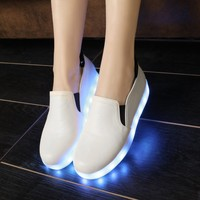2017 funny show led light dancing show party women and mens shoe