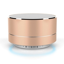 2016 Wireless Bluetooth Speakers LED Metal Steel Mini Portable Speaker Hands Free TF Card Music Bass Subwoofer Stereo Speaker