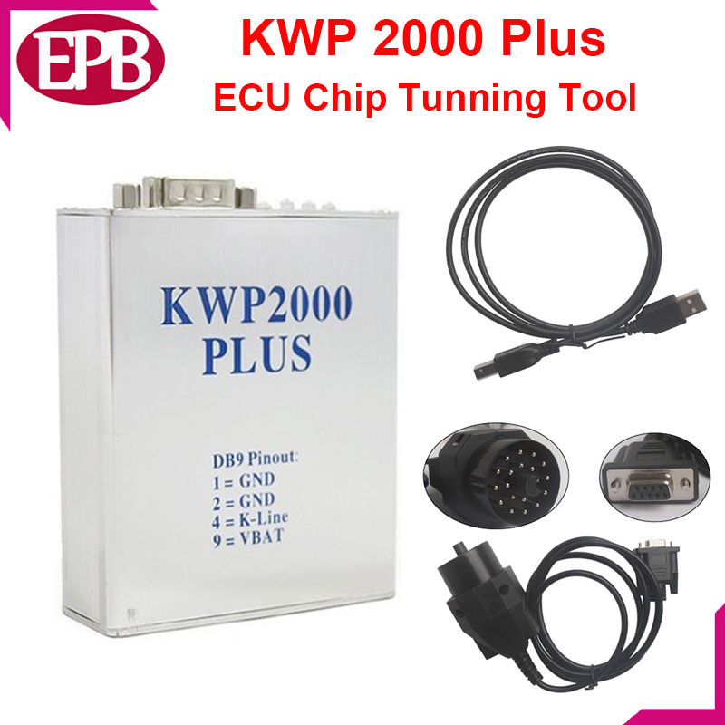 Tunning chip KWP2000 Plus ECU REMAP Flasher OBD2 ECU chip tunning tool Free Shipping KWP 2000