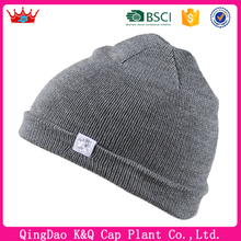 Wholesale High Quality Cashmere Beanie Hats With Logo On The Side Panel
