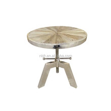 Best sale 304 stainless steel legs radial top adjustable coffee table round tea table