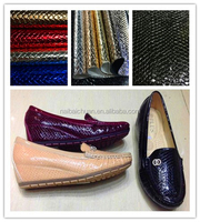 Snake Skin embossed PU synthetic leather for shoes and bag, artificial fake leather, snake skin leather