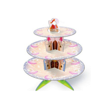 Wholesale Birthday Flower 3-layer Pink Cake Stand
