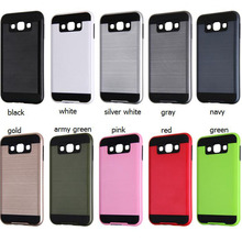 New Design Arrival Mobile Phone Case Brushed 2 In 1 Soft Cover For SA7 Phones