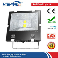 color changing outdoor led flood light 200W rgb with bridelux chip for project