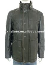 2012 newest men's middle long coat with fur collar/ the collar Can be turned up