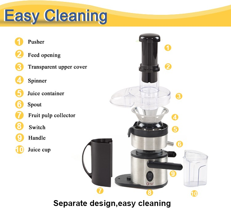 450W Stainless Steel Electric Fruit Juicer